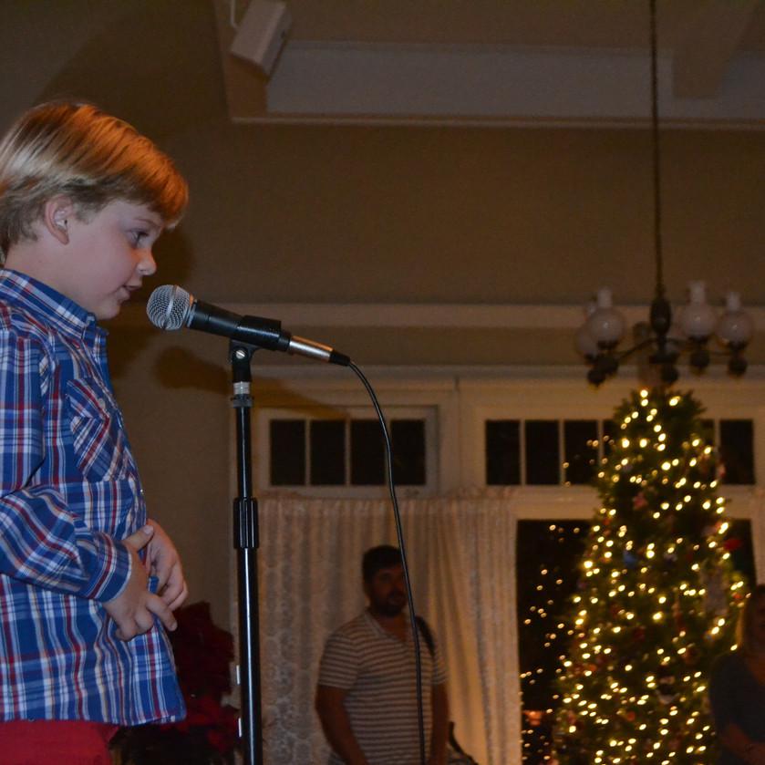 couragously singing