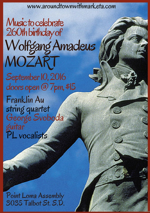 Chamber Music Celebrating W. A. Mozart will Make your Ordinary Saturday an Extraordinary One; George