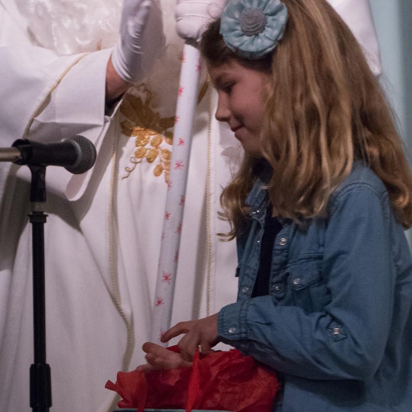 children love St. Nicholas!