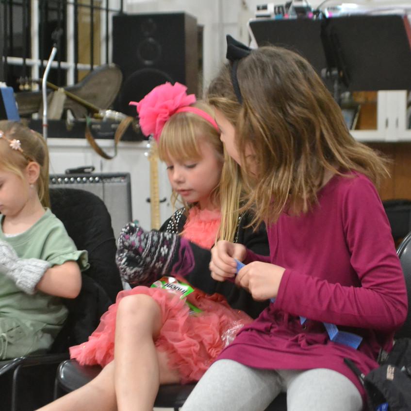 children competing