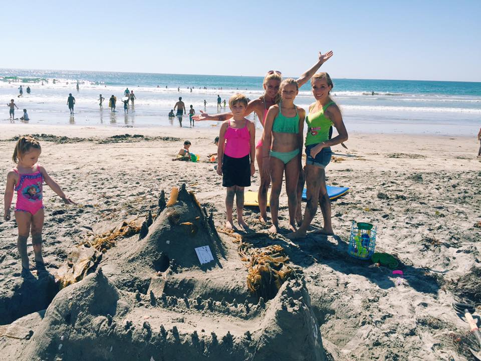 sand castle summer day