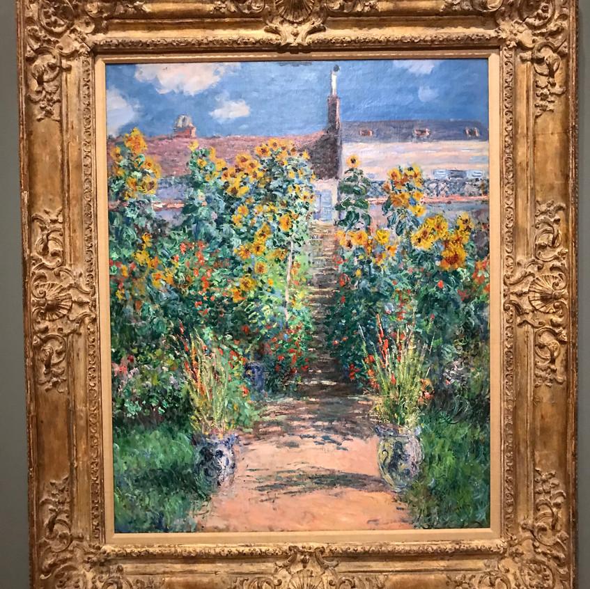 Monet Garden at Vetheuil  1881