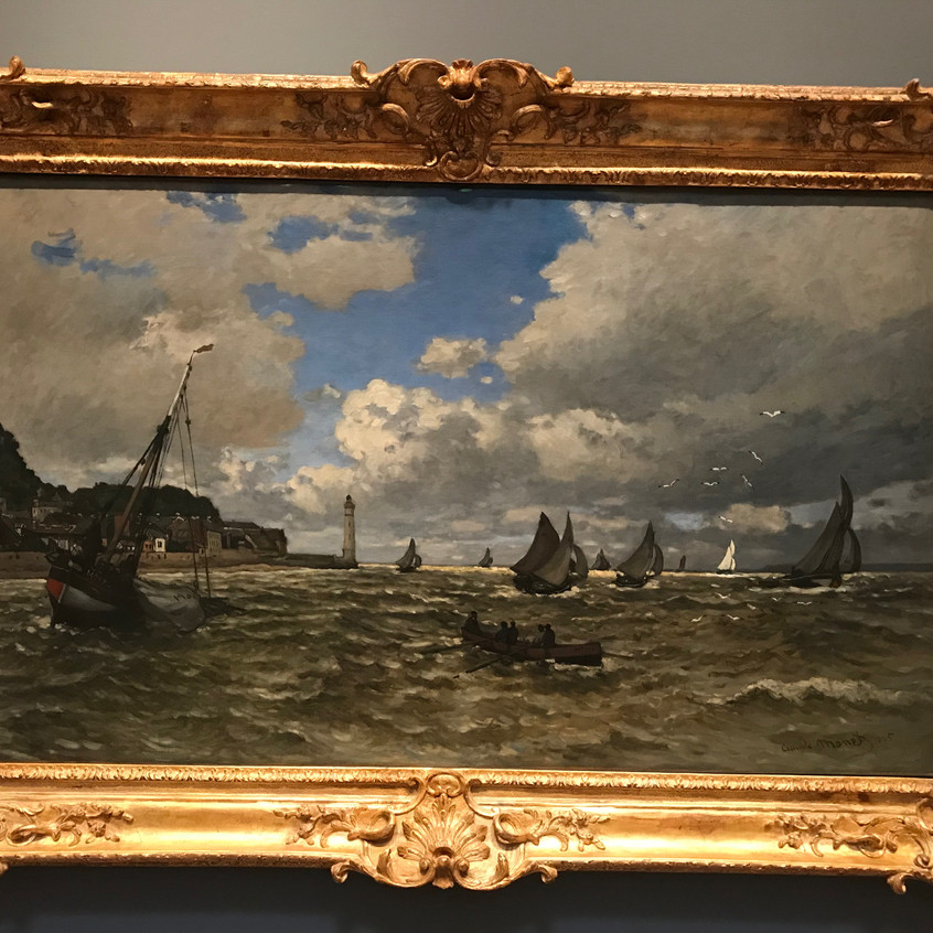 Monet1865Mouth of Seine at Honfleur