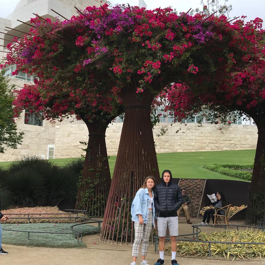 Getty museum garden deti - 1