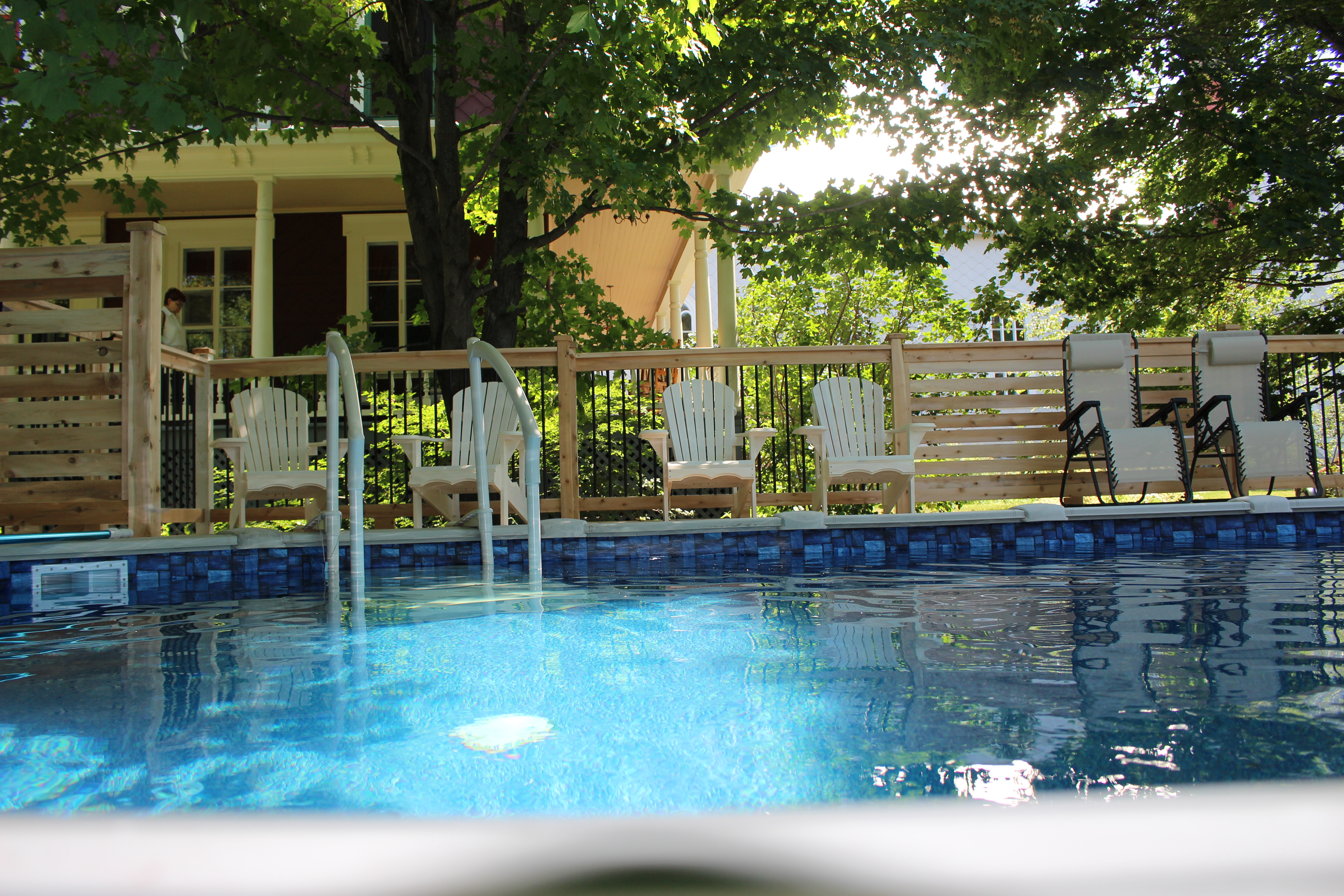 piscine chauffée au sel