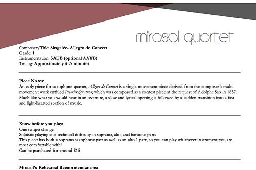 Singelee- Allegro de Concert