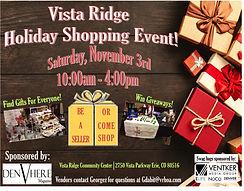 Vista Ridge Holiday Shopping Event FULL