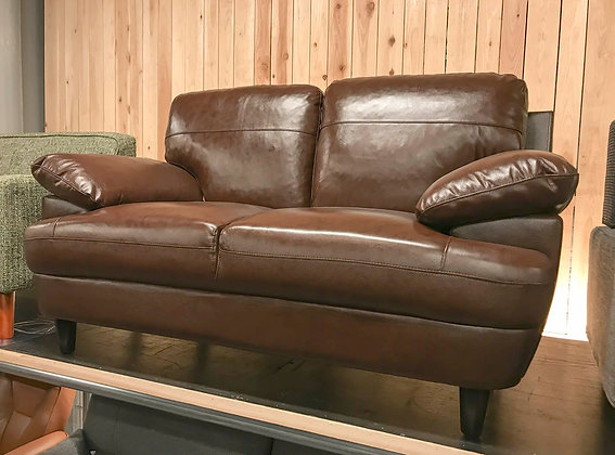 REAL LEATHER 2P SOFA (BR)
