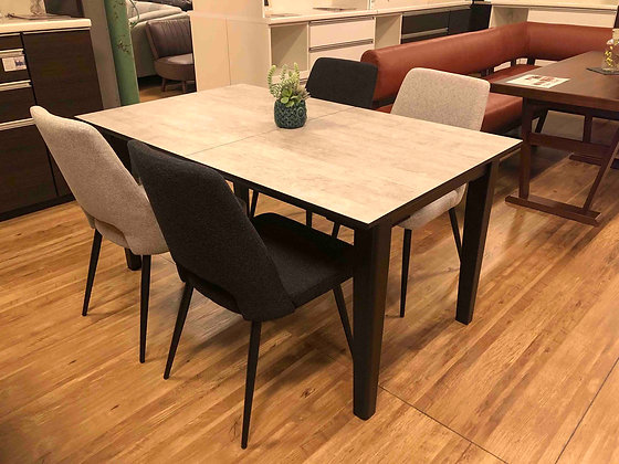 EXTENSION DINING TABLE 5SET LO - 140-180
