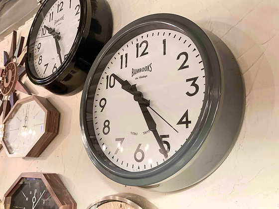 BRITISH CLASSIC WALL CLOCK - GY / BK