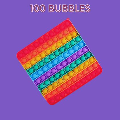 POP IT- גדול במיוחד מרובע צבעוני 100 באבלס
