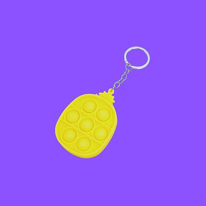 POP IT- מחזיק מפתחות אננס צהוב