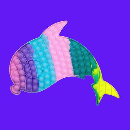 POP IT- פופאיט ענק בצורת דולפין בצבעי פסטל