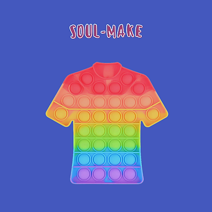 POP IT- פופאיט צבעוני בצורת חולצה