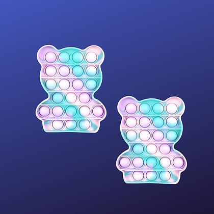 POP IT- פופיט דובי בצבעי פסטל טאי דאי
