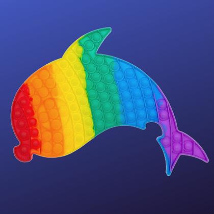 POP IT- פופאיט ענק בצורת דולפין צבעוני