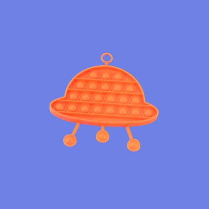 POP IT- בצורת עב'ם בצבע כתום