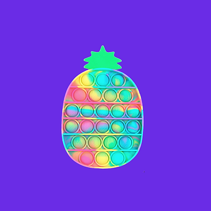 POP IT- פופאיט אננס בצבעי טאי דאי פסטליים