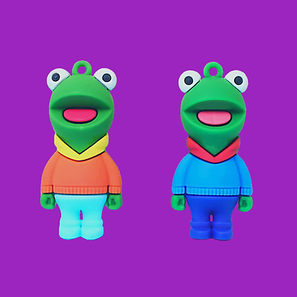 מחזיק מפתחות מדהים של קרמיט הצפרדע