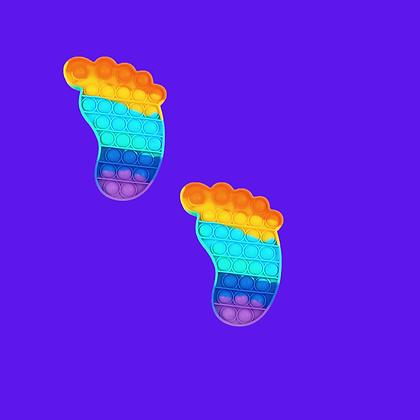 POP IT- פופאיט צבעוני בצורת כף רגל