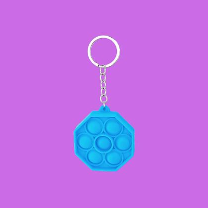 POP IT- מחזיק מפתחות מתומן כחול