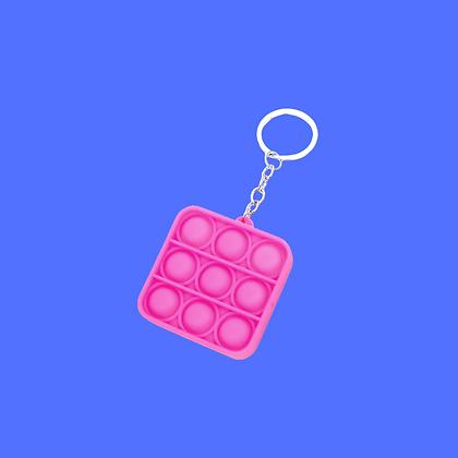 POP IT- ריבוע ורוד מחזיק מפתחות