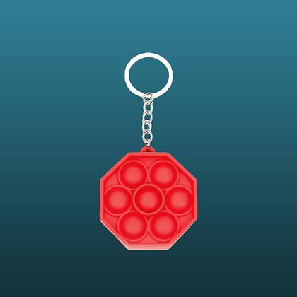 POP IT- מחזיק מפתחות מתומן אדום