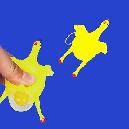 פידג'ט מחזיק מפתחות תרנגול מעיכה