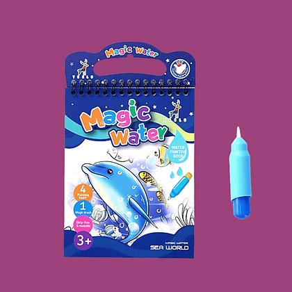 ספר מים קסם צבעוני-מתחת למים