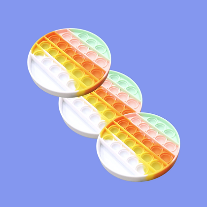 POP IT- פופיט עגול בצבעי פסטל