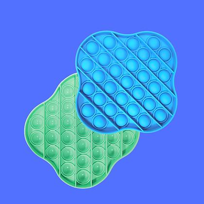 מרובע מעוגל- ירוק או טורקיז-POP IT