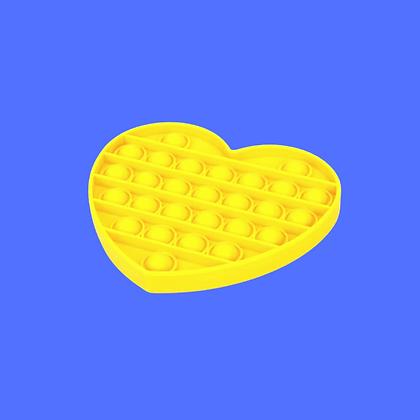 לב צהוב-POP IT