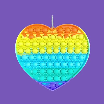 POP IT- פופיט ענק לב צבעוני