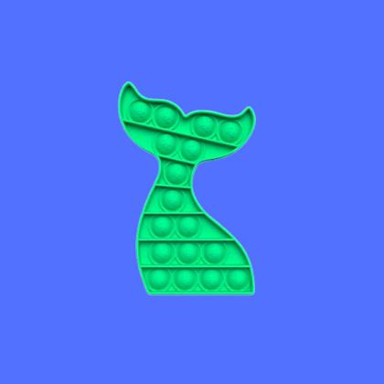 זנב בת ים ירוק-POP IT