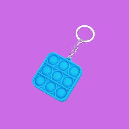 POP IT- מחזיק מפתחות ריבוע כחול