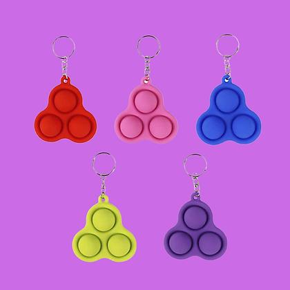 POP IT מחזיק מפתחות משולש צבע אקראי