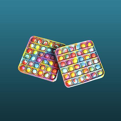 POP IT-מרובע צבעוני נדיר