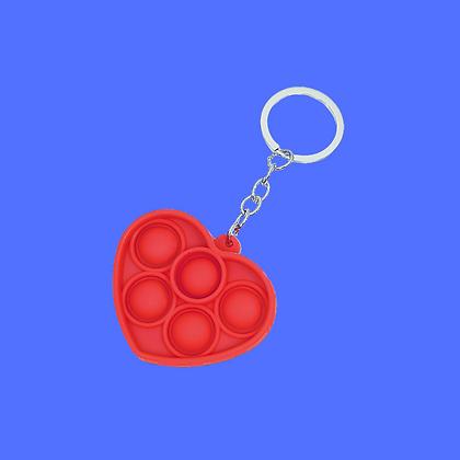 POP IT מחזיק מפתחות לב אדום