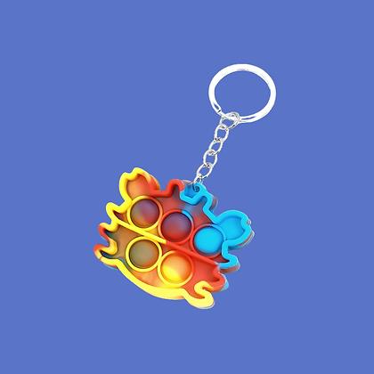 POP IT- מחזיק מפתחות סרטן צבעוני נדיר