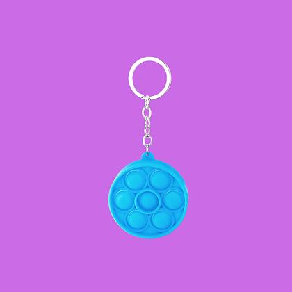 POP IT- מחזיק מפתחות עגול כחול
