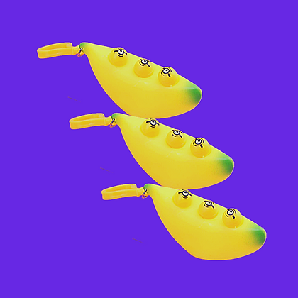 פידג'ט טוי בננה לחיצה עם פרצופים