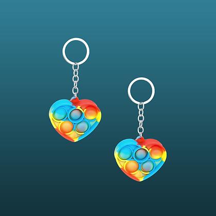 POP IT- מחזיק מפתחות לב צבעוני נדיר