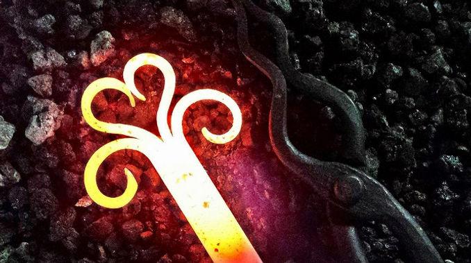 Hand forged heart Darryl Kotz Blacksmith