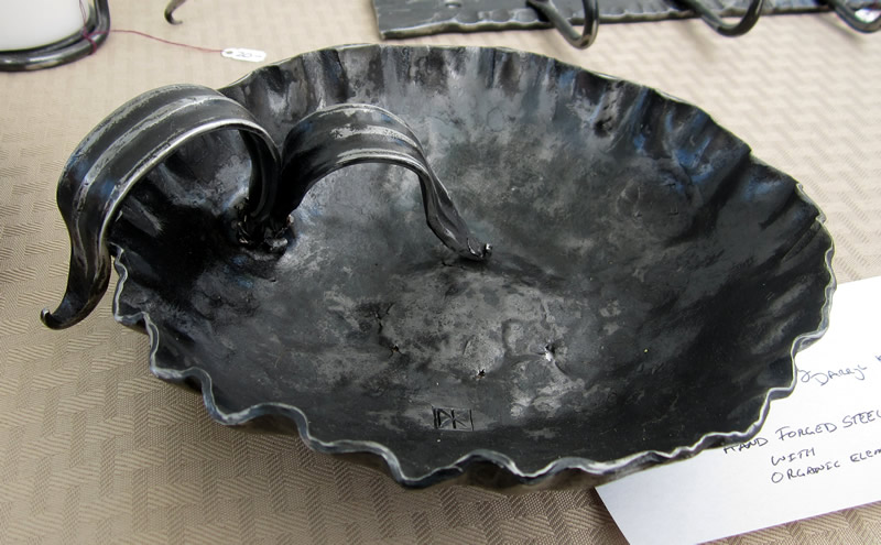 Hand forged bowl Darryl Kotz