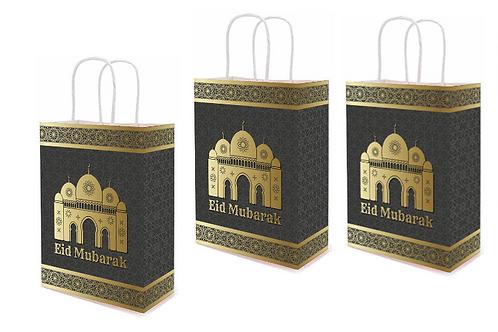 3x Eid Mubarak Paper Gift Bags