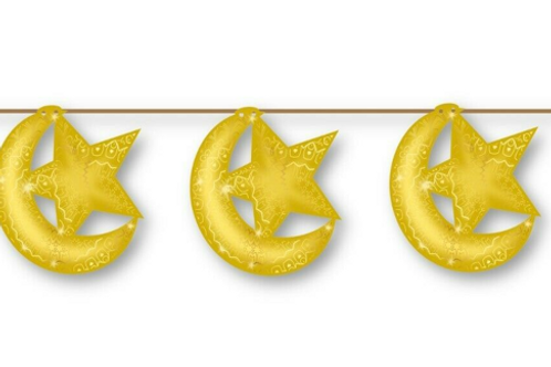 Hanging Moon And Star (Gold)