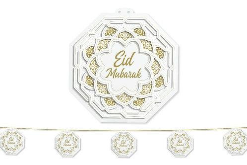Eid Garland Large (White / Gold Octagon)2021