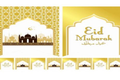 Eid Mubarak Flag -Limited Edition-Gold