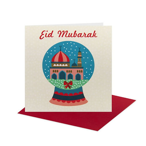 Eid Mubarak Card Snow Globe