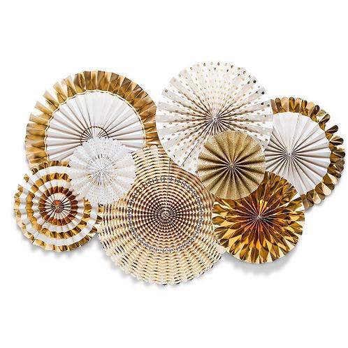 Gold Foil Paper Fan Party Decorations- RAMADAN / EID